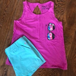 Super cute girls outfit shorts & tank!